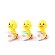 Press Series Cartoon Motorcycle Funny little yellow duck Model Mini Toy Car Pull Back Cars  Vehicles Children Toy for gift стоимость