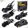 5 unidades Batman Batmobile Vehículos set Super Cool Negro Aleación Modelos de coches de Metal Material Batman Niño Coche de Juguete 5 unidades conjunto