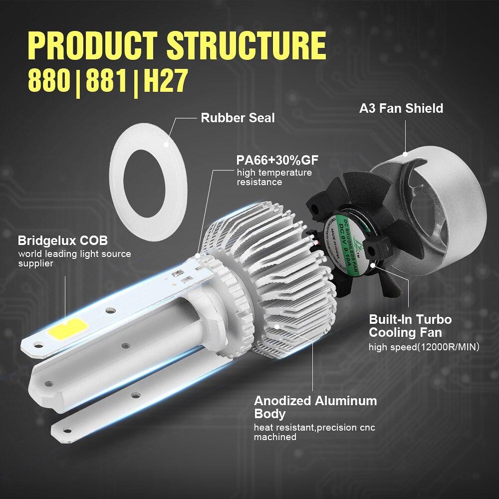 Eurs (TM) h4 светодиодный H7 H11 9006 HB4 удара S2 фар авто 72 Вт 6000 К 7600LM мотоциклов высокого/низкого луча лампы все в одном автомобильные лампы