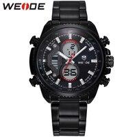 WEIDE Quartz Analog Business Watch Men Brand Luxury Stainless Steel Bracelet 30 Meters Waterproof Mens Original