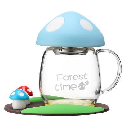 050 Cartoon Creative trend lovable super sprouting mushroom cup portable cup 280ml in Teacups from Home Garden