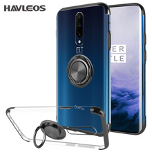Transparent Magnetic Silicone Phone Case For Oneplus 7 Pro 6T 6 Ring Holder Slim Clear Soft Tpu Case Cover For Coque Oneplus 6 7