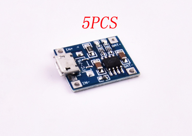 US $6 99 |5PCS DIY 1A Micro Lithium Battery Charging Module Lipo Battery  Charger Circuit Board Spare Parts for RC Boat/Car/Aircraft Model-in Parts &