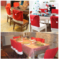 6pcs Christmas Chair Covers Sets Santa Hat Cap Dinner Table Covers Decor Party Gift Xmas Wholesale #20