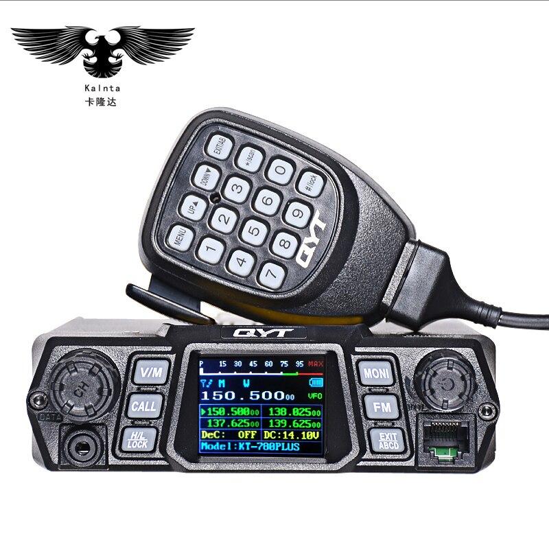 QYT KT-780PLUS 100 w haute puissance mobile Radio Bi-bande Affichage Quadruple vhf quadri-bande voiture Stazione Radio CB talkie-walkie par camion