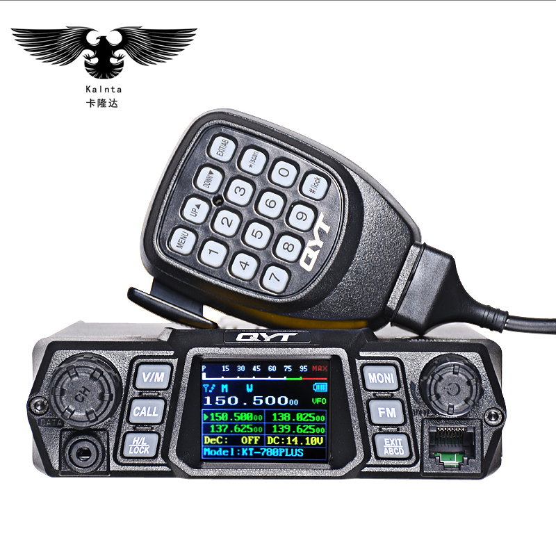 QYT raido KT-780PLUS 100 W ad alta potenza mobile Dual Band Quad Display vhf quad band auto Stazione Radio CB Walkie talkie per camion