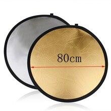 80 см 5 в 1 светильник для фотостудии Mulit фото диск складной светильник Отражатель Круглый диск с молнией круглая сумка для переноски