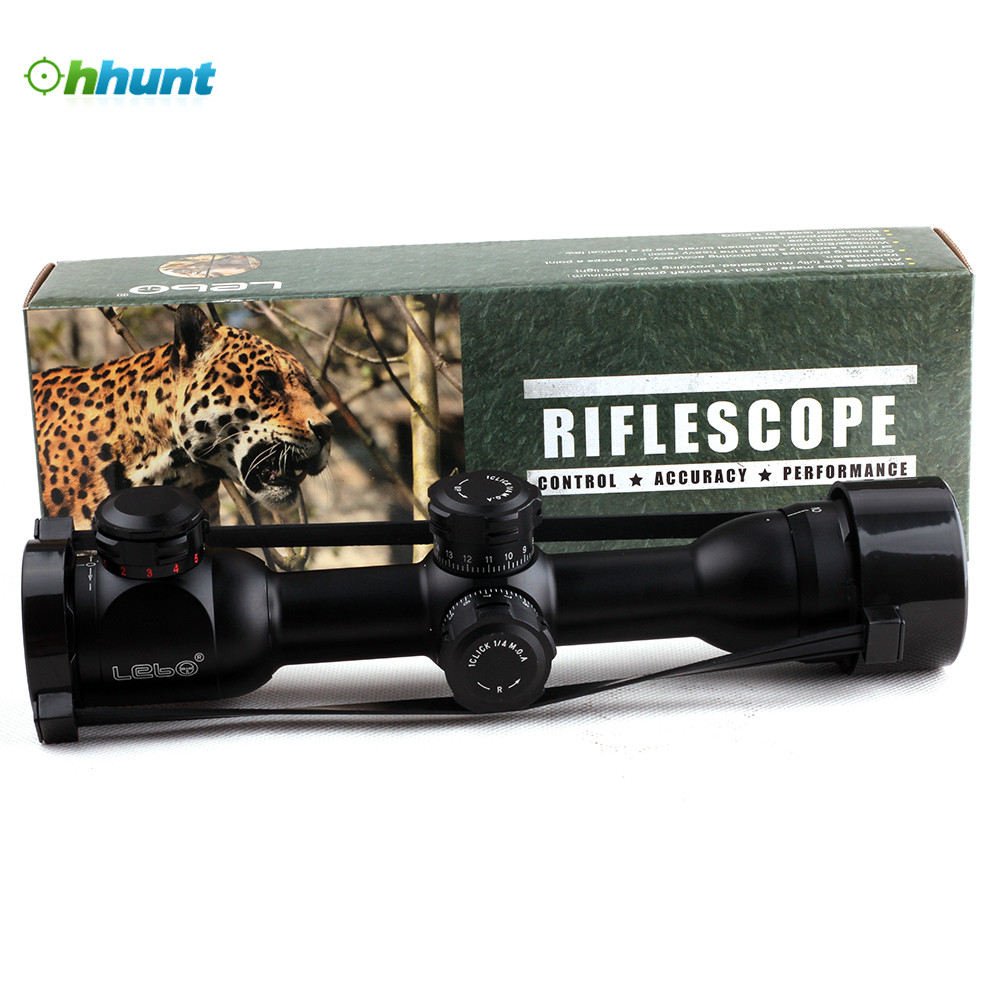 LEBO 6x32 AOME Mil Dot Tactical Optical Sight Compact Lock Rifle Scope For Hunting Riflescope