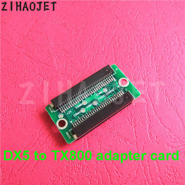 Cina perubahan untuk XP600 TX800 printer Untuk Epson DX5 printhead print head papan mengkonversi adapter chip dengan kabel 1 set