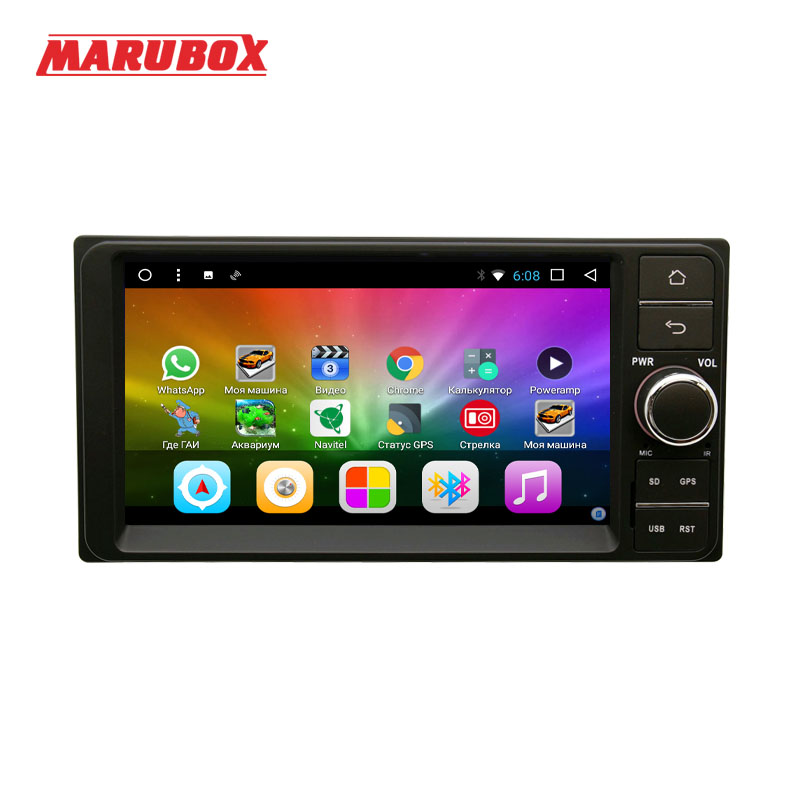 MARUBOX 2Din Octa Core Android 8.1 For Toyota Universal With GPS Navigation Radio Video Player Car Multimedia System 7A701DT8 marubox 7a701dt8 car multimedia player universal for toyota 8 core android 8 1 radio chips tef6686 2gb ram 32g rom gps usb