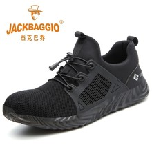 Steel Teo Mesh Men Work Shoes, Lightweight Breathable Mens Safety Shoes,non-slip Wearable Construction Boots Rubber Sole