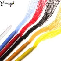 Bianyo 6 pcs 부드러운 파스텔 스케치 연필 atist 드로잉 학교 용품에 대 한 woodless 파스텔 컬러 연필 설정
