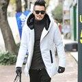 2016 Nuevo Invierno Chaquetas de Los Hombres de Espesamiento de Invierno Chaquetas Para Hombre de Algodón Abajo Hombres de la Capa Caliente Parkas Hombre grueso abrigo con capucha