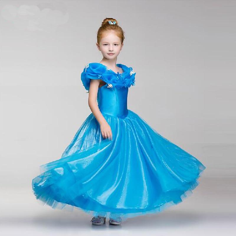 Girls Cinderella Dress Costume