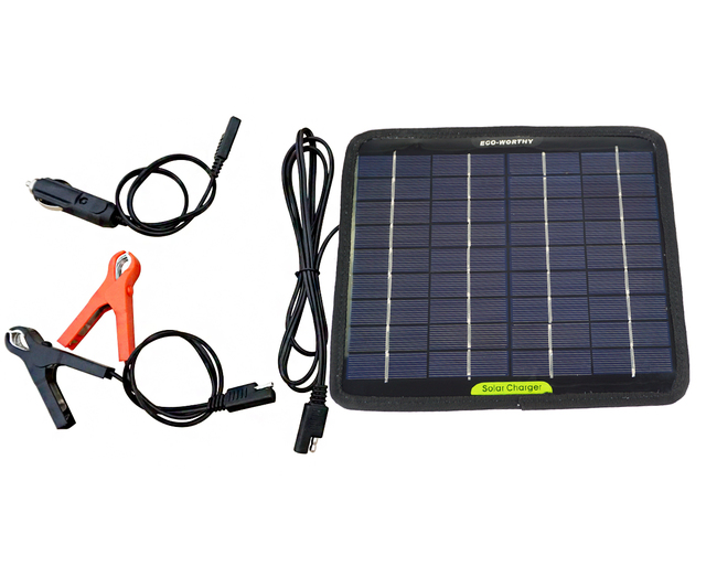 12 Volts 5 Watts Portable Power Solar Panel Battery Charger Backup for Car Boat Batteries