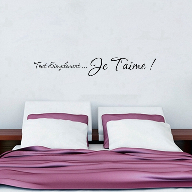 Gratis verzending I love u Franse Slaapkamer muurstickers ...