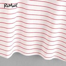 striped ringer short sleeve t shirt NA01