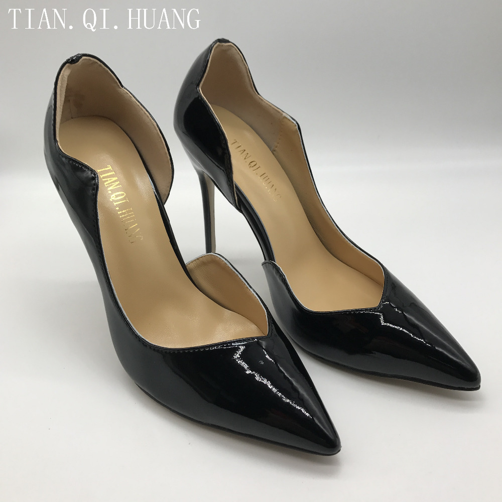 New Woman High Heels Pumps Wedding Bridal Shoes Black Heels Women Shoes High Heels Women Pumps Genuine leather TIAN.QI.HUANG 2