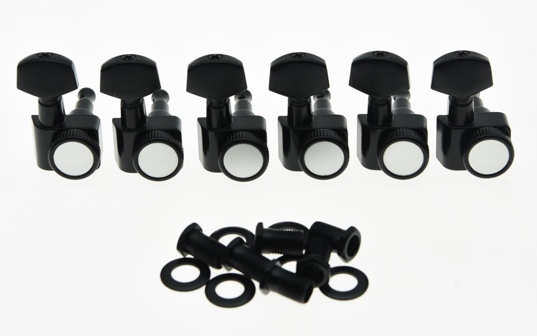 KAISH noir 6 en ligne 2 broches verrouillage Tuning clés chevilles Tuners convient USA Strat Tele