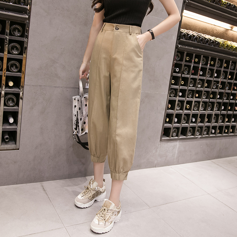 website for discount new arrivals great discount sale Fashion style harem pants women autumn spring stretch waist ...