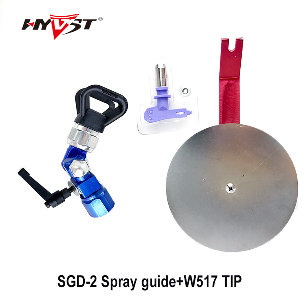 Universal Airless Spray  Paint Gun Guide and spray gun tip 517 nozzle Accessory Tool fits most Paint Sprayer guns that  are 7/8 aftermarket electric airless paint sprayer gun spray gun for paint spray gmax 390 395 490 495 with 517 nozzle tip 288428