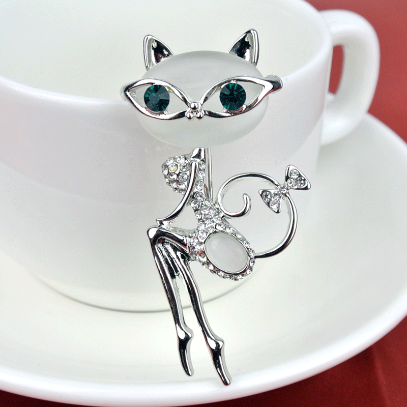 Kucing Super Cute Kucing Mata Batu Bros Korea Kristal Kerah Kucing Kepribadian Berbagai Gaya