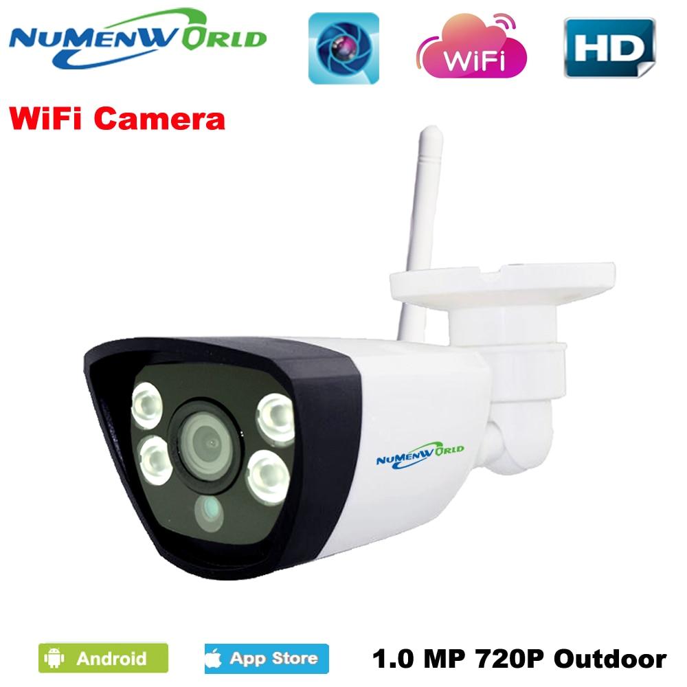 Wireless IP cam 720P HD P2P ONVIF 802.11b/g/n wifi network Wired IP Camera IR Outdoor Waterproof Camera IP ABS Plastic фотоловушка bushnell trophy cam hd wireless 119598