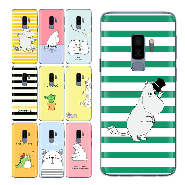 new arrivals 1bed0 c3fd0 US $1.29 34% OFF|Cute Bear For Samsung Galaxy S10 Plus case Hippo Dinosaur  for Funda Samsung Galaxy S9 S8 S10 plus S7 Edge S8 Plus Case for S10e -in  ...