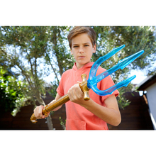 Justice League Aquaman Trident Toys DC Superhero Weapon Pirate Party Cosplay Sword Glowing Musical Toys for Children cheap Plastic 59x14cm 3 years old Sword Weapon Category Unisex Flashing Sounding be careful Type NO 79051-5 music and luminous