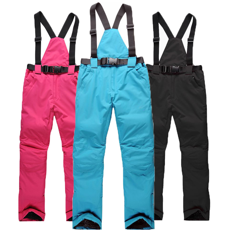 2017 Outdoor Pants Sport Waterproof  Hiking Camping Trousers winter ski pants men women suspenders -30 Degrees warm ski pants autumn winter women men outdoor hiking pants warm waterproof breathable soft pants cycling climbing camping travel sport pant