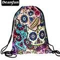 Deanfun mulheres Diário mochila unisex crânio mexicano softback mochilas freeshipping azul 3d impressão polyest