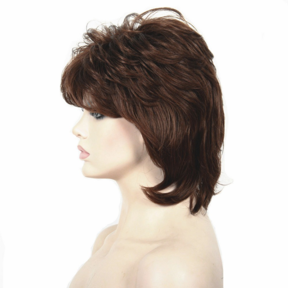 StrongBeauty Short Shag Hairstyles Hair For Women Natural ...
