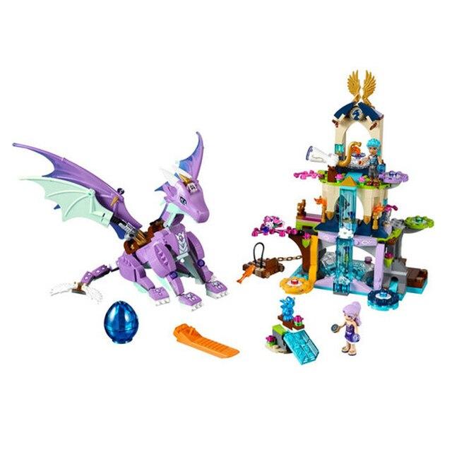 Bela Elfos 10549 O Dragão Santuário de Blocos de Tijolos de Construção DIY Brinquedos Educativos Compatíveis com Legoings 41178 Amigos