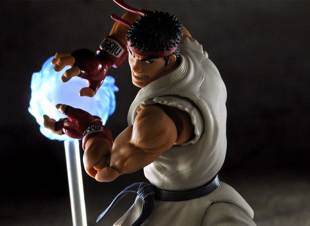 18CM Japanese anime figure SHF Street Fighter Ryu action figure collectible model toys for boys 17cm pvc japanese anime figure bigboystoys street fighter chun li with light action figure collectible model toys brinquedos