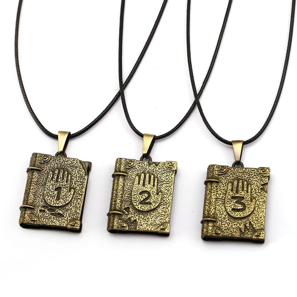 2020 New Gravity Journal 3 Metal Necklace Diepsloot Diary LOGO Book Shape Chocker Pendant Necklace For Fans