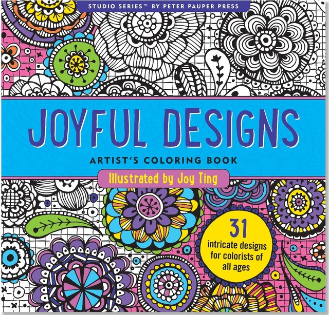 Joyful Designs Artists Coloring Book 31 Stress Relieving English