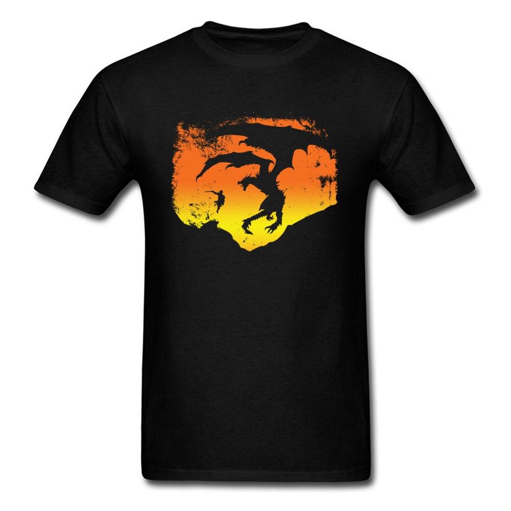Male Cool Tshirts Summer Popular Cotton T-Shirt Warrior VS Dragonfly 3D Print Graphic Slim Fit Tee Shirt Horror Movie T Shirt