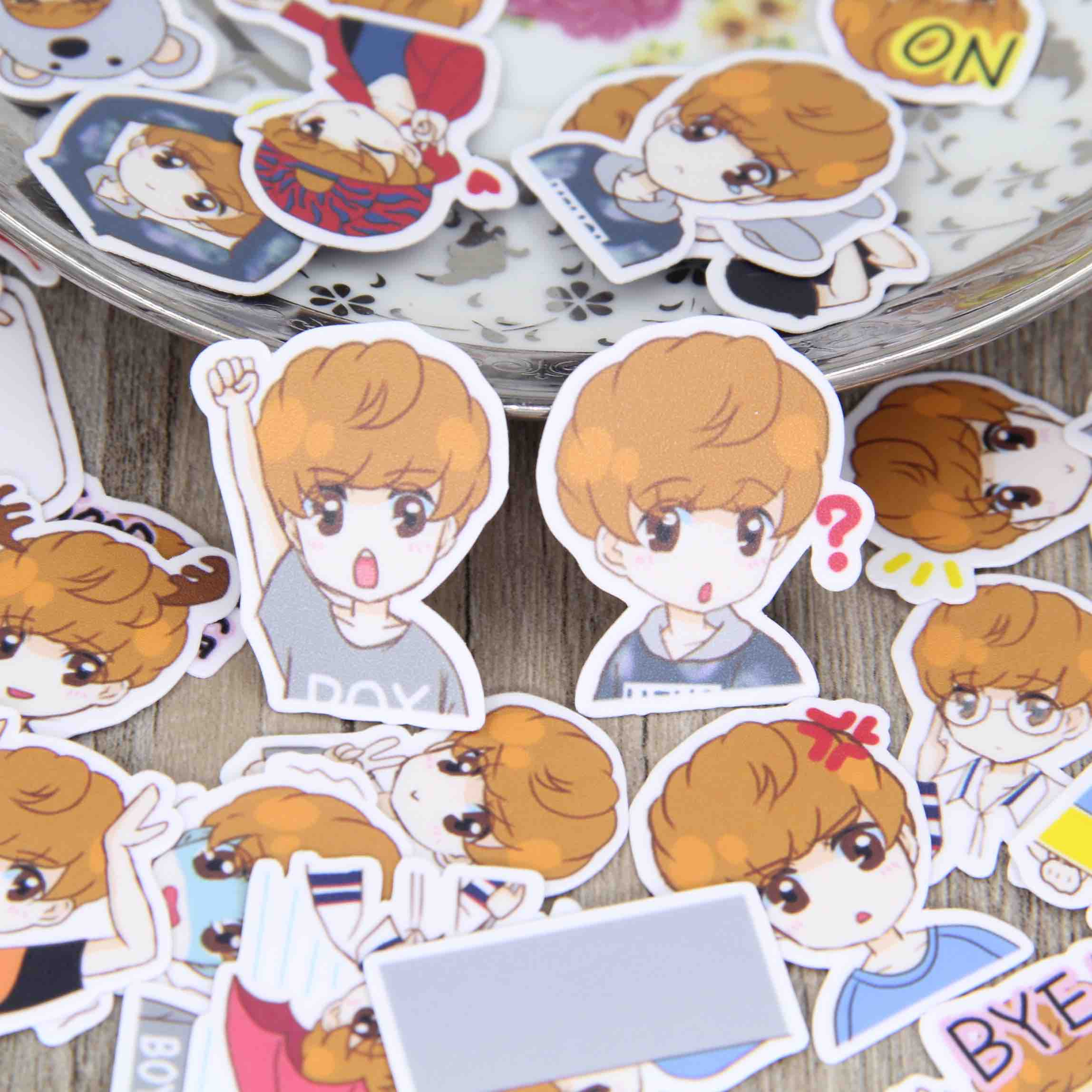 40pcs cute drawing little boy emotion book album deco scrapbooking stickers diy craft decorative sticker pack