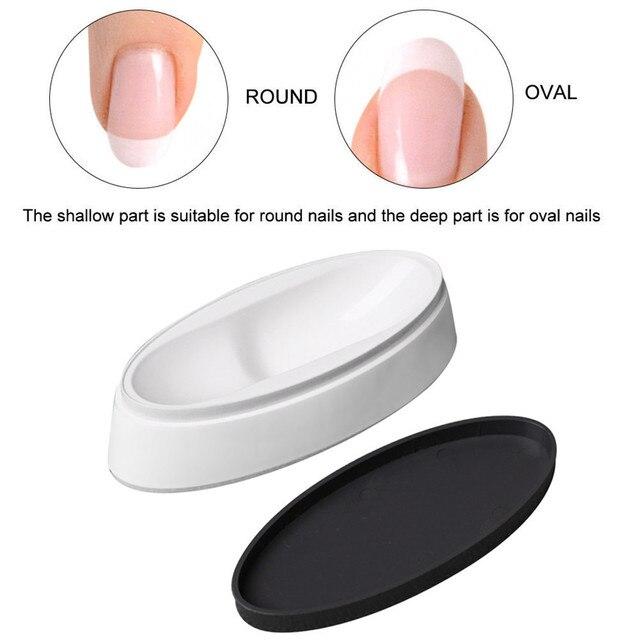 Arte de uñas de moda uñas inmersión polvo francés bandeja manicura de uñas Dip contenedor