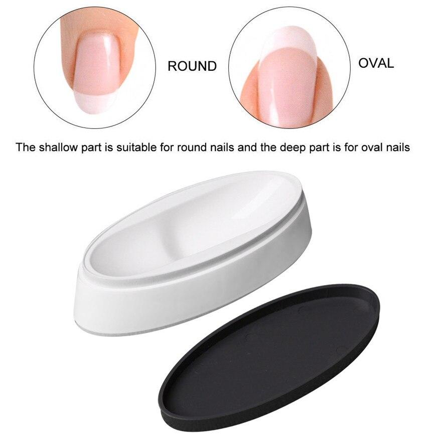 Nail  Art Fashion Nail Dipping Powder French Tray Manicure Mould Nail Dip Container