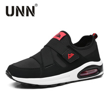 Cool Sport Shoes Men Running Shoe Elastic Red Black Sneaker Women Air Cushion Athletic Trainer Man