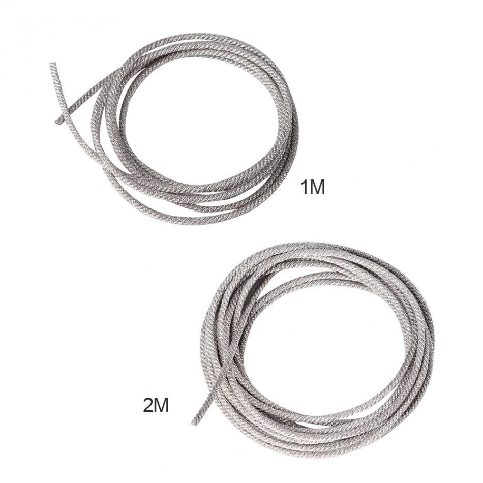 32 strands 1m 2m subwoofer cable high temperature resistant twisted silver wire speaker lead
