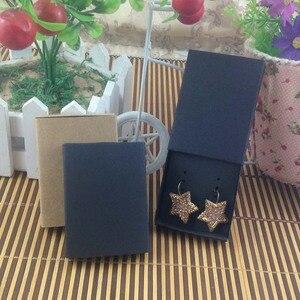 Image 3 - Sieraden kaart 100 stks + 100 pcsbox 7.5*5.4*1.2 cm Gift Hangend Match Oorbel Case, Custom Logo: 1000 stks Kosten Extra Zeep Sieraden Doos