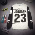 New Arrival Harajuku Patchwork Men winter Hoodies Letter Jordan 23 Printed Sweatshirts Black White 2 Colors Hip Hop Men Hoodies