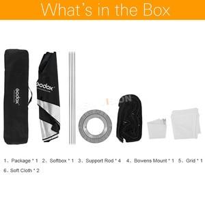 """Image 2 - Godox 50x130 cm/20 """"* 51"""" colmena panal RED DE Softbox Bowen para montaje en estudio flash DE300 DE400 SK300 SK400 DP600 QT600"""