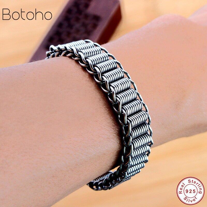 Bracelet homme large de 11 MM bracelet en argent sterling 925 bijoux pour hommes cadeau en forme de serpent en argent thaïlandais pour bracelet à breloques petit ami