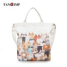 TANGIMP Cats Messenger Bags for Women Large Lady Girls Animal Crossbody Zipper Shoulder Bag Casual Teen Kids Handbags Bolso