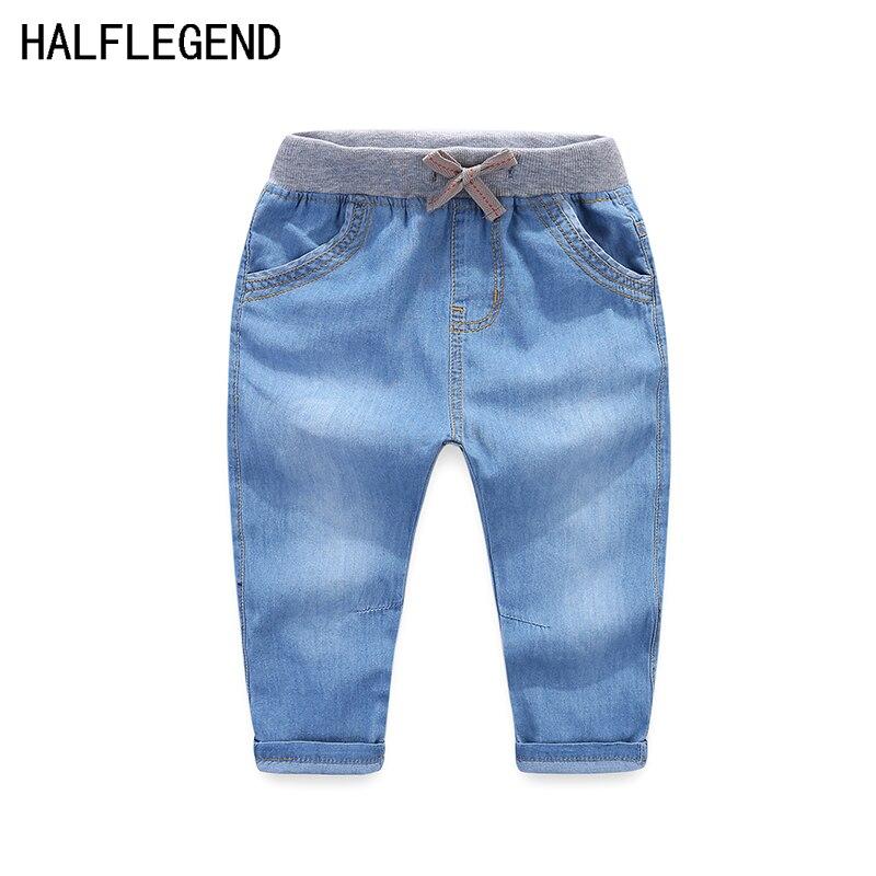 0841e8a77a Comprare Bambini del bambino pantaloni jeans marea 2018 nuovi bambini di  marca primavera estate dei jeans sottili pantaloni casual ragazzi e ragazze  di alta ...