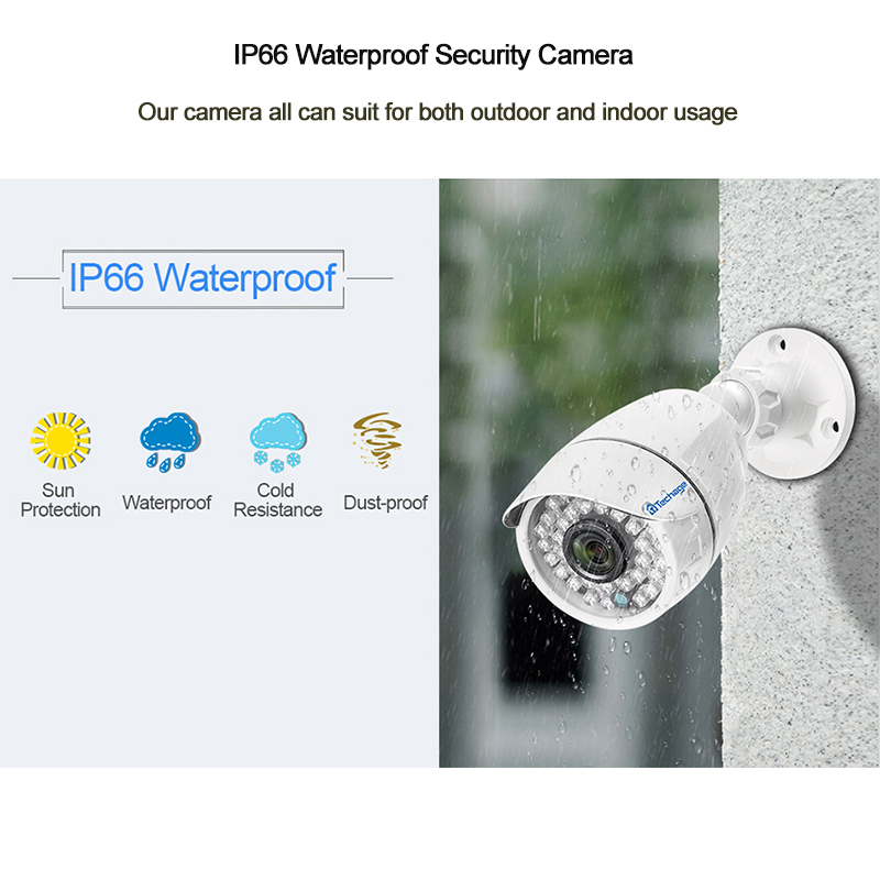 Image 4 - Techage CCTV Camera System 4CH 1080P 2MP AHD Security Camera DVR Kit IP66 Waterproof Outdoor Home Video Surveillance Set 1TB HDD-in Surveillance System from Security & Protection