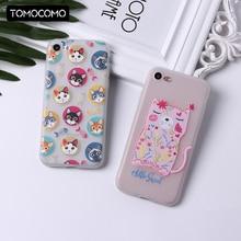 TOMOCOMO Cute Animals Cat Elephone Classy Cool Girl Soft Silicon Phone Case For iphone 5 6 6Plus 7 7Plus 8 8Plus X Cover Fundas